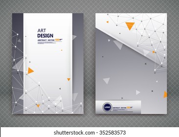 Abstract composition, business card set, molecular atomic collection, a4 brochure title sheet, certificate, diploma, patent, charter, creative text frame surface, polygonal logo icon backdrop, EPS10