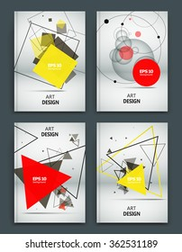 Abstract composition, business card set, correspondence collection, white a4 brochure title sheet, creative figure, logo sign, firm banner form, transparent contour, flier fashion, EPS10 illustration