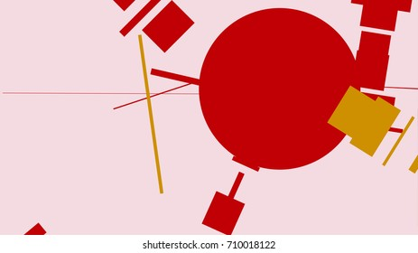 An abstract composition consisting of chaotically scattered geometric elements. Vector illustration of a style of supermatism
