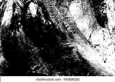Abstract composition for design elements. Black and white painting on canvas with brush strokes. Abstract art background. Vector.