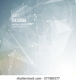 Abstract composition, futuristic technology, silver font texture, white cybernetic dots, creative banner figure, gray wallpaper, outer space flyer fiber, neon star light matrix, EPS10 vector backdrop