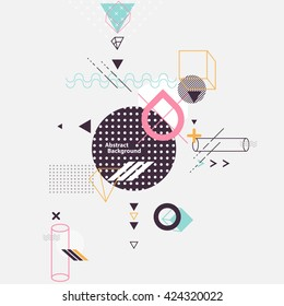 Abstract composition of geometric elements