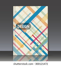 Abstract composition, geometric shapes, Brochures, background, EPS 10, vector illustration