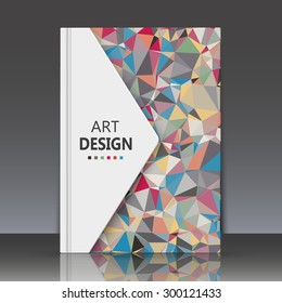 Abstract composition, geometric shapes, triangles, Brochures, background, EPS 10, vector illustration