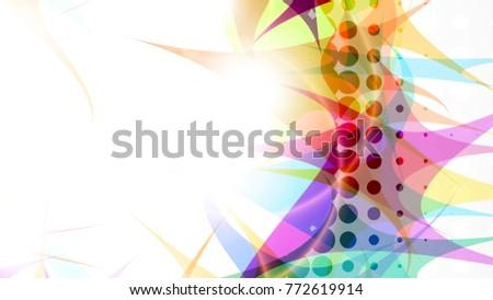Abstract Composition Halftone Effect Place Text Vector De