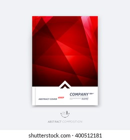 Abstract composition, red polygonal texture, triangle part construction, line plexus, a4 brochure title sheet, creative figure icon, ruby crystal facet, rubine diamond surface, banner form, flyer font