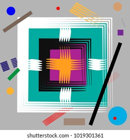 Abstract Composition in the style of Malevich. Futurism Supermatism Background.