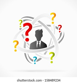Abstract concept about questions vector illustration