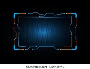 abstract concept blue screen hexagon background