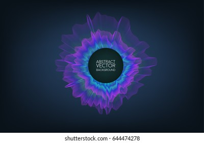 Abstract concept design sound wave bass. Vector illustration for motion design or broadcasting.