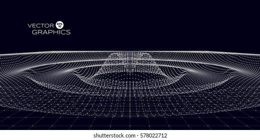 Abstract concept design of space ripple. Vector illustration for science, technological design.