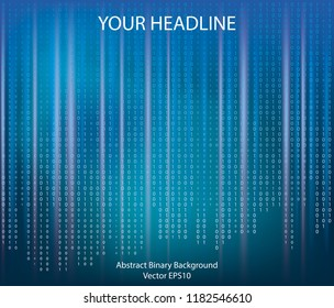 Abstract concept graphic data, technology, decryption, algorithm, encryption element, Vector binary code background