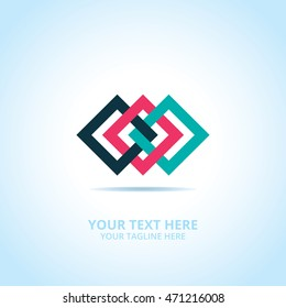 Abstract Connect logo, design concept, emblem, logotype element for template.