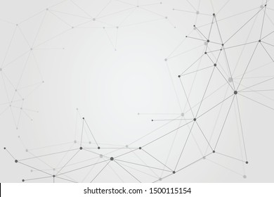 Abstract connecting dots, Polygonal background, technology design, vector illustrator