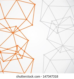 abstract connecting node background vector