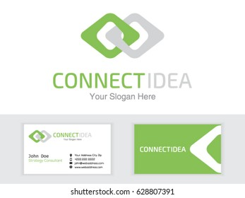 Abstract Connection Logo. Communication. People Connect, Network Integrate Vector Logotype