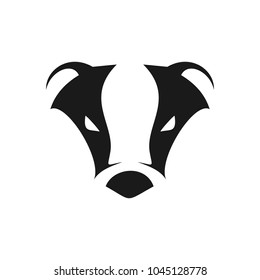Abstract Cool Badger Head Symbol Logo Design
