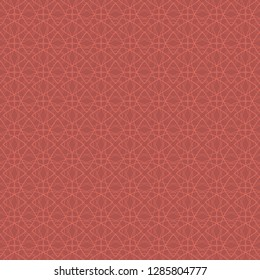 Abstract coral web coral color on a dark coral background. Seamless pattern