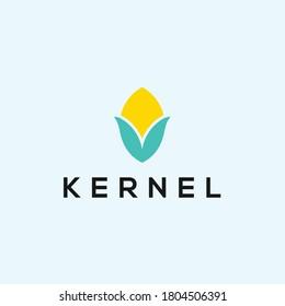 abstract corn logo. farmer icon