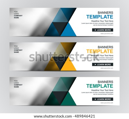 Abstract corporate business banner template web stock vector abstract corporate business banner template web banner or header templates fbccfo Choice Image