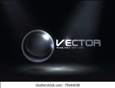 Abstract Corporate Design with Glass Sphere