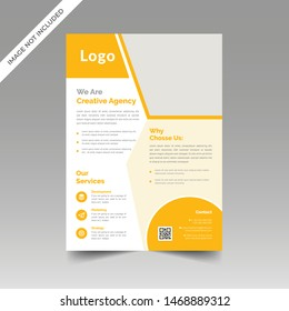 Abstract Corporate Flyer Brochure Design Template vector
