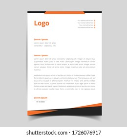 Abstract corporate and modern letterhead template design for your business. with full vector