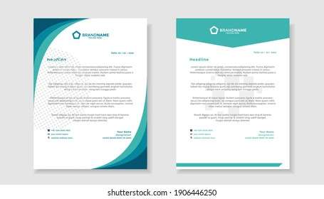 Abstract corporate and modern letterhead template design for your business with full vector