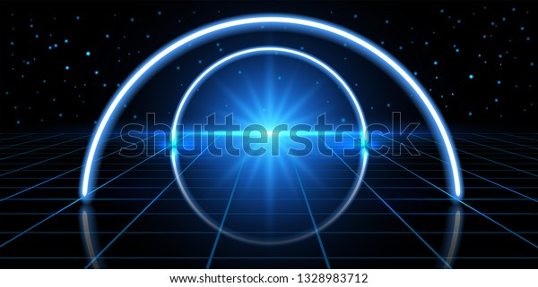 Abstract Cosmic Background Fantastic Hyperspace Neon Stock