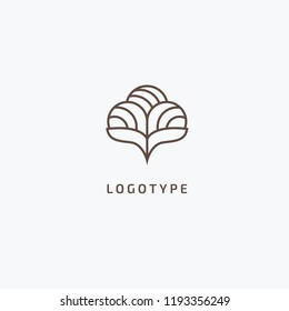Abstract cotton and wool clothes logo icon vector design. Eco friendly textile, natural cloth, Plant, nature, leaf and ecology vector logo. Vector illustration, Graphic Editable Design.