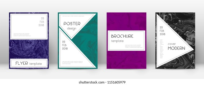Abstract cover. Bizarre design template. Suminagashi marble stylish poster. Bizarre trendy abstract cover. Business vector illustration.