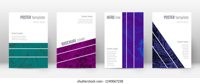 Abstract cover. Captivating design template. Suminagashi marble geometric poster. Captivating trendy abstract cover. Business vector illustration.