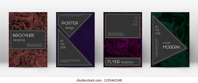 Abstract cover. Comely design template. Suminagashi marble black poster. Comely trendy abstract cover. Business vector illustration.
