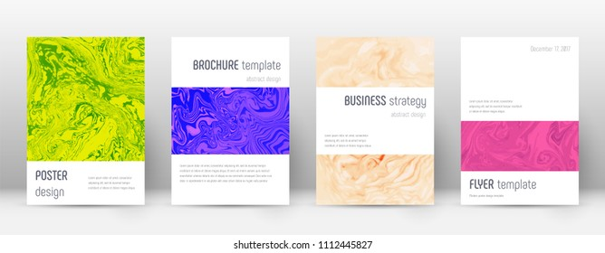 Abstract cover. Curious design template. Suminagashi marble minimalistic poster. Curious trendy abstract cover. Business vector illustration.
