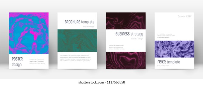 Abstract cover. Dazzling design template. Suminagashi marble minimalistic poster. Dazzling trendy abstract cover. Business vector illustration.