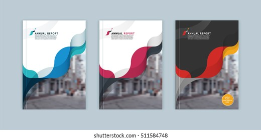 Abstract cover design, business brochure template, layout, report, magazine or booklet in A4 multicolored waves dynamic blurred, soft lines and smooth forms. Vector illustration of a modern flat style