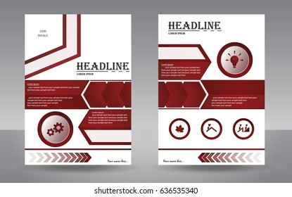 Abstract cover design with double page.