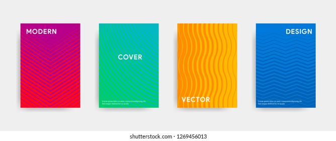 Abstract cover design. Geometric colorful gradient. Vector illustration.