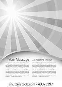 Abstract cover design with sunrays