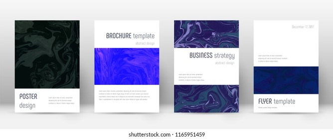 Abstract cover. Ecstatic design template. Suminagashi marble minimalistic poster. Ecstatic trendy abstract cover. Business vector illustration.