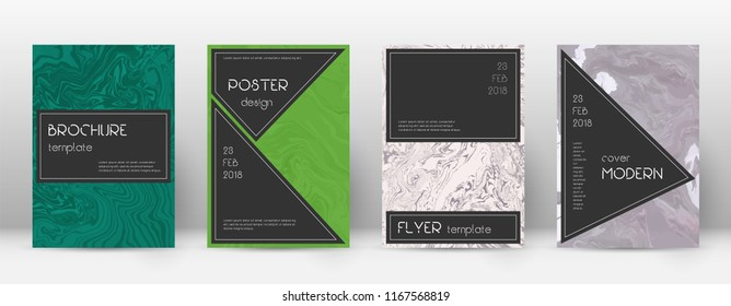 Abstract cover. Emotional design template. Suminagashi marble black poster. Emotional trendy abstract cover. Business vector illustration.
