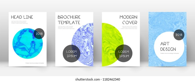 Abstract cover. Fabulous design template. Suminagashi marble trendy poster. Fabulous trendy abstract cover. Business vector illustration.