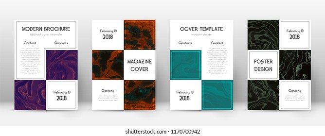 Abstract cover. Favorable design template. Suminagashi marble business poster. Favorable trendy abstract cover. Business vector illustration.