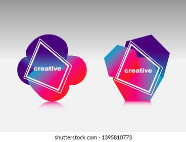 abstract cover with geometric shapes and color background