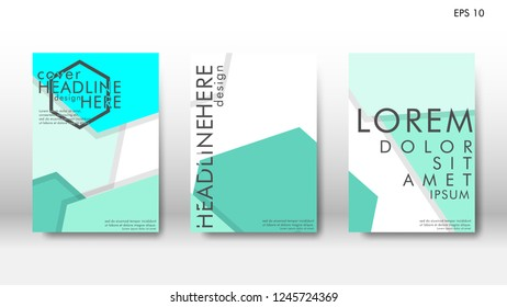 Abstract cover with hexagon elements. book design concept. Futuristic business layout. Digital poster template. Design Vector - eps10