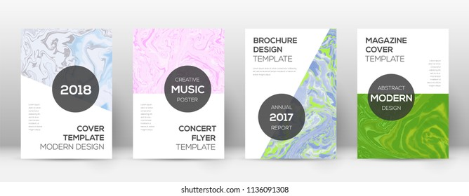 Abstract cover. Imaginative design template. Suminagashi marble modern poster. Imaginative trendy abstract cover. Business vector illustration.