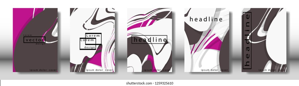 Abstract cover with liquid elements. book design concept. Futuristic business layout. Digital poster template. Design Vector - eps10