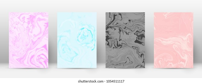 Abstract cover. Modern design template. Admirable suminagashi marble. Delightful trendy abstract cover. Vector illustration.