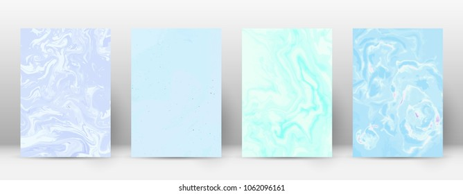 Abstract cover. Modern design template. Adorable suminagashi marble. Flawless trendy abstract cover. Vector illustration.