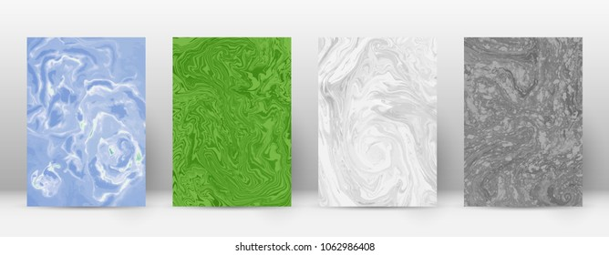Abstract cover. Modern design template. Actual suminagashi marble. Unique trendy abstract cover. Vector illustration.